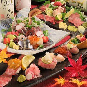 梅田 肉の寿司 かじゅある和食 足立屋 ADACHIYA_01