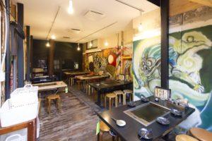 アート個室空間で楽しむ鉄板焼き 原宿さくら亭_05