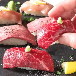 喰らえ肉ざんまい!個室 炙り肉寿司&牛タン肉串&肉汁餃子 ダウンタウンビアバーナ_03
