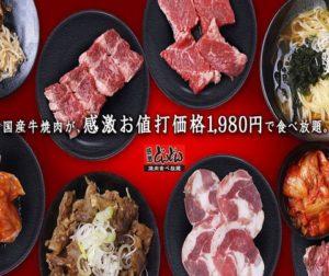 国産牛 焼肉 食べ放題 感激どんどん 曳馬店_01