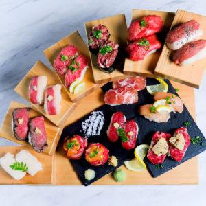 個室で炙り肉寿司を食らう 今昔物語 名古屋栄店02