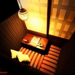 個室で炙り肉寿司を食らう 今昔物語 名古屋栄店01