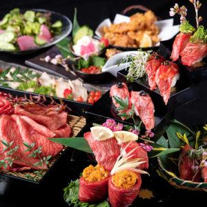 焔立つ肉寿司と牛タンタワー 肉処 双葉 三宮01